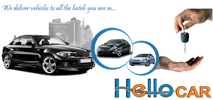 We deliver vehicles to all the hotels you are in... %>